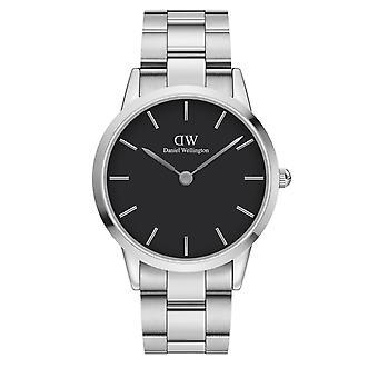 Daniel Wellington DW00100342 Iconic Silver Tone Wristwatch