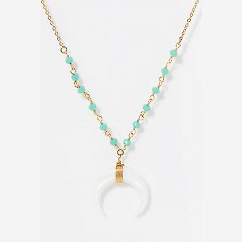 Golden and Amazonite necklace