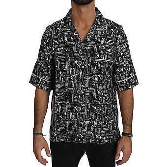 Dolce & Gabbana Musta soitin Silkki Top Shirt