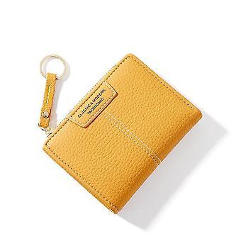kvinner lommebok myk lær kvinnelig veske, kortholder / mynt / slank veske nøkkelring