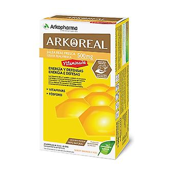 Arkoreal Royal Jelly Vitamins 500mg with Orange and Honey Flavour 20 ampoules of 15ml