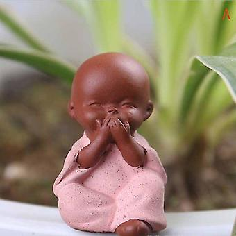 Small Buddha Statue - Monk Figurine Ceramic Crafts Ornament