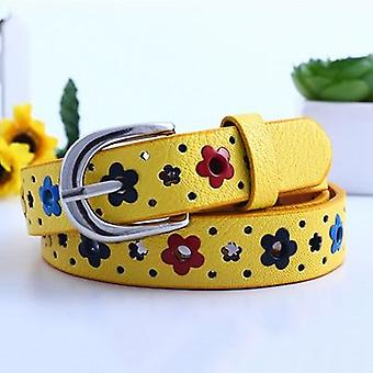 Colorful Flower Butterfly Hollow's Casual Pin Buckle Belt