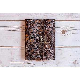 Floral geprägt Latch Journal