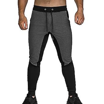 Men Joggers Zipper Casual Pants Fitness Sportswear Tracksuit Bottoms Skinny