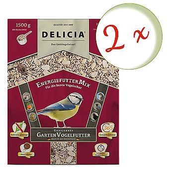 Sparset : 2 x FRUNOL DELICIA® Delicia® alimentation énergétiqueMix, 1,5 kg