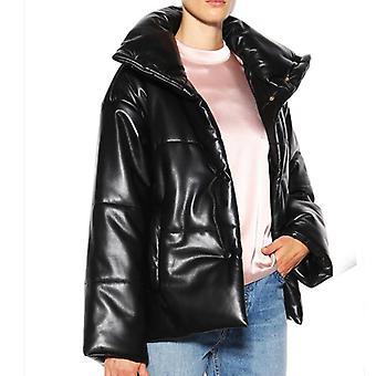 Fandy Lokar High Imitation Leather Parkas Pu Leather Coats