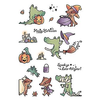 LDRS Creative Spook Ya Later Alligator Clear Stamps