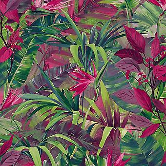 Grandeco Jungle Fever Pink/Green