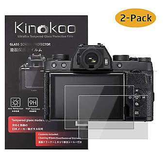 Kinokoo tempered glass film for fuji x-t100 crystal clear film fujifilm xt100 screen protector bubbl
