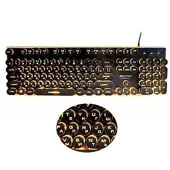 Retro Runde Glühende Keybord