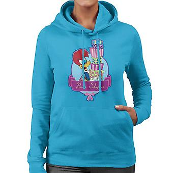 Woody Woodpecker Winnie Woodpecker Power Shopper Women's Hooded Sweatshirt