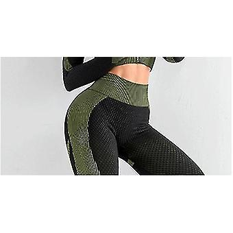 Seamless Yoga Clothing Suit Autumn And Winter New Knitted Hip-lifting Elastic Fitness Movement