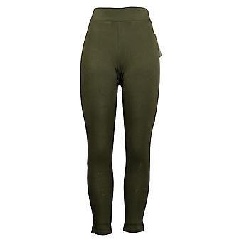 HUE Leggings Utopia Cotton-Blend Full Length Green 692-482