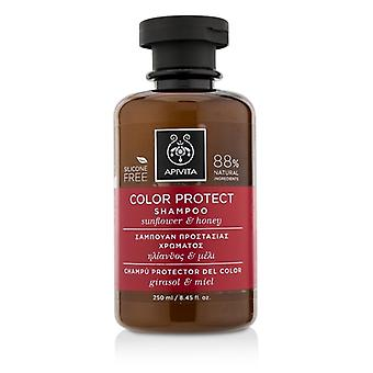 Apivita Color Protect Shampoo with Sunflower & Honey (For Colored Hair) 250ml/8.45oz