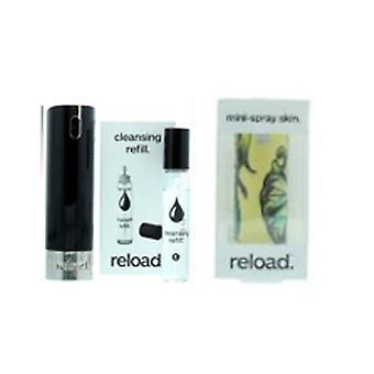 Reload Mini Parfyme Spray Svart Rensing Påfyll & Hud Mann Tatovering