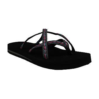 Teva Women's Olowahu Flip-Flop (39 M EU/8 B(M) US, Black on Black)