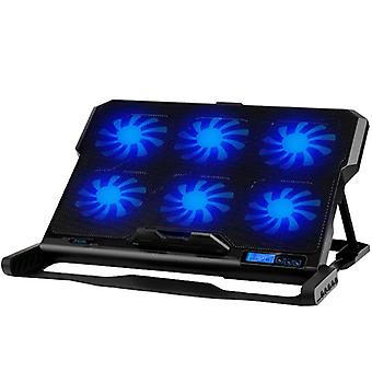 13-16 Inch Laptop Cooling Pad Laptop Cooler Six Cooling Fan 2 Usb Ports Stand