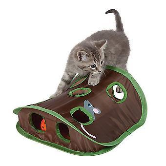 Katze Spielzeug neun Loch Maus Loch Tease Katze Stick mit audible Bell Ball Puzzle Kätzchen Interaktion lustige spielbare Haustier liefert
