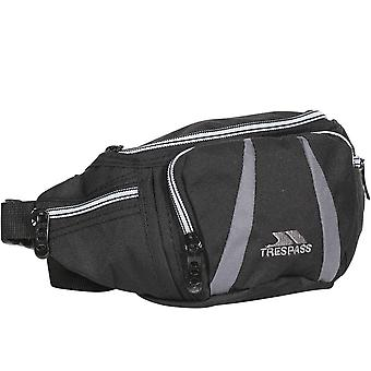 Trespass Unisex Erwachsene Dax 2.5L Outdoor Walking Multi Pocket Bum Bag - Schwarz