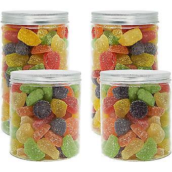 LG Luxury & Grace Set 4 Vorratsdosen aus Lebensmittelqualitt Polythylen, 1,3 L (18x10 cm) - 0,70