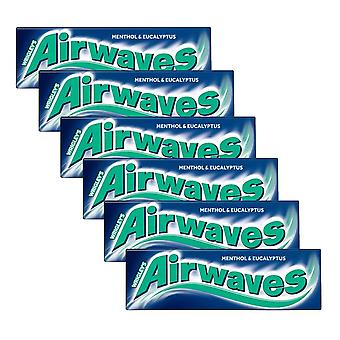6 x 10 pieces Menthol Eucaliptus Sugarfree Chewing Gum Bubble Oral Dental Care Clean Teeth