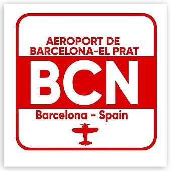 هدية ملصقا: إسبانيا إيروبورت دي برشلونة-إل برات BCN السفر