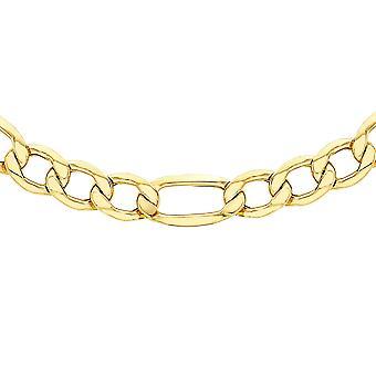 TJC 9K Gul Guld Curb Chain halskæde til Kvinders Gave til Kone 24 ''