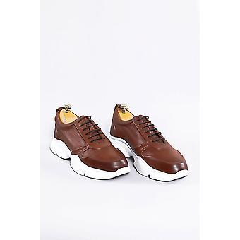 Skórzane brązowe brzydkie buty | wessi