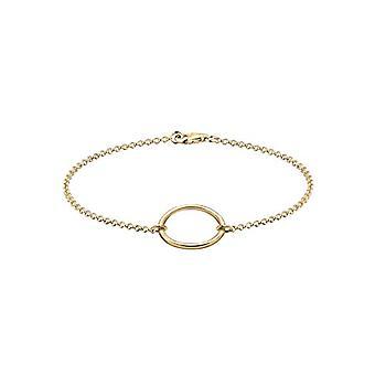 """lli s spun femei în lire sterline 925 de argint, """"Cercul vieții"""" motiv, placat cu aur, lungime: 18 c"""