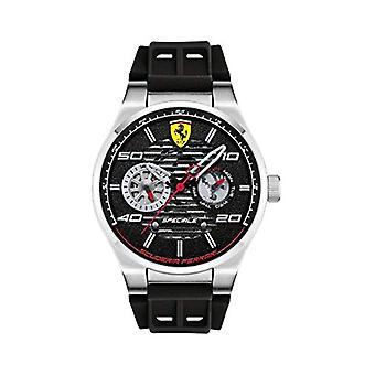 Scuderia Ferrari man analog quartz Multifunction black Silicone Strap 830429