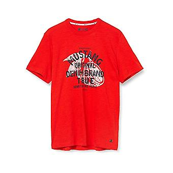 MUSTANG Alex C Print T-Shirt, Red (Feuerrot 7130), X-Large Men(2)