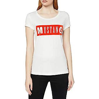 MUSTANG Alexia C Print T-Shirt, Beige (Cloud Dancer 2020), 40 (Size Producer: X-Small) Woman