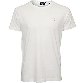 GANT The Original SS T-Shirt, Blanc, XS Homme