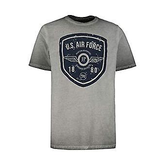 JP 1880 Gro and Gro en T-Shirt Cool Dye, Druck Fly, Anthracite, XXL Men's