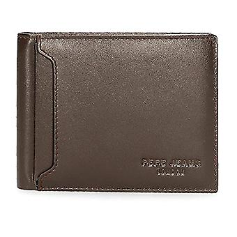 Pepe Jeans Dark Brown Wallet 12.5x9.5x1 cms Leather