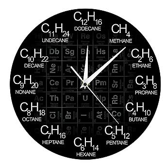 Periodic table chemical symbols home decoration wall clock
