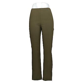 Femmes avec contrôle Shapewear Tushy Lifter Slim Leg Pants Vert A310956