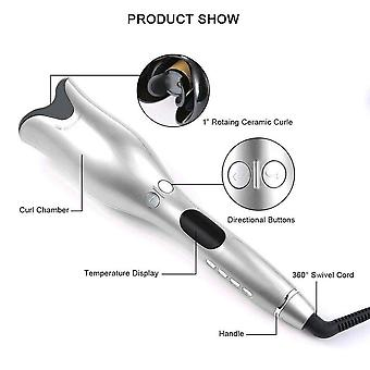 Automatic Curling Iron Air Curler Air Spin Wand Curl Magic Hair Curler|Curling Irons(White)