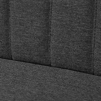 vidaXL Sofá Tela 117 x 55,5 x 77 cm Gris Oscuro