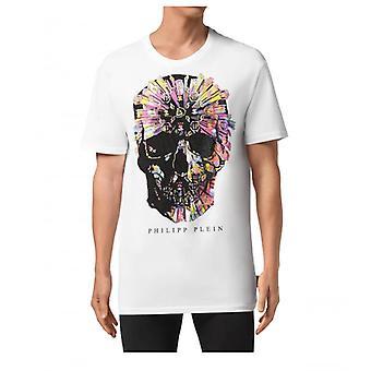 Philipp Plein Ss Colorful Skull White T-shirt