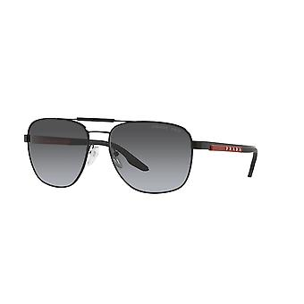 Prada Sport Linea Rossa SPS53X 1BO6G0 Gafas de sol negras/gris polarizadas