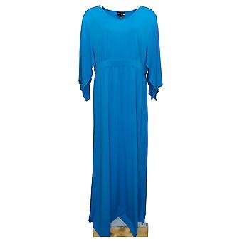 Antthony Women's Dress Reg Kimono-Sleeve Maxi Blue 747089