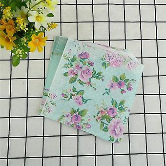 Бумажные салфетки Роза Зеленые Салфетки Украшение Serviettes Event & Party Tissue