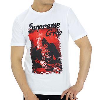 Supreme Grip Menn T-skjorte Ferrari Hvit