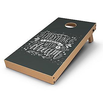 Totul începe cu un vis Cornhole Board Skin Decal Kit