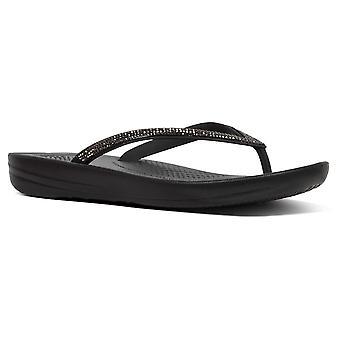 Fitflop™ Iqushion Sparkle Flip-flop Noir
