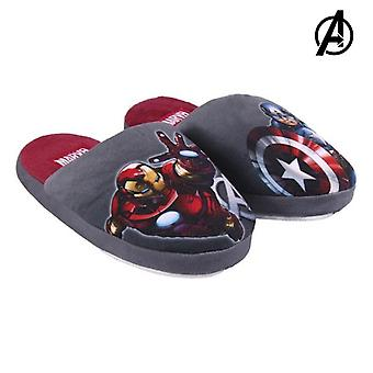 House Slippers The Avengers Grey Red