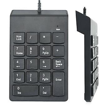 Tastierino numerico USB cablato con 18 tasti Slim Mini Number Pad per PC desktop portatile
