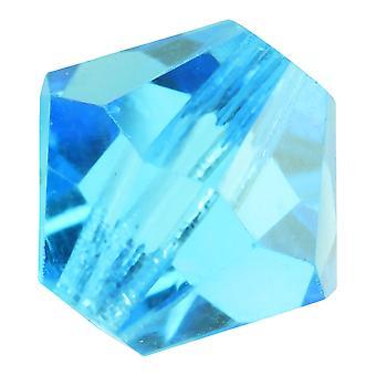 Preciosa tjekkisk krystal, Bicone Perle 8mm, 12 stykker, Aqua Bohemica